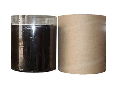 The left is black tubbiness butyl sealant with plastic film, and the right is its cardboard packaging.