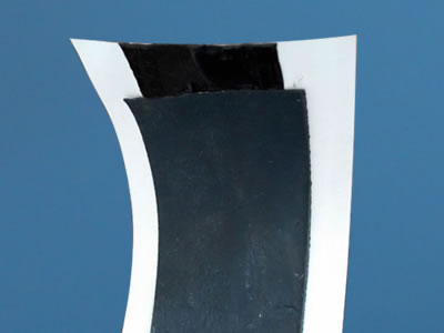 An enlarge picture about unfolded part of single sided butyl tape.